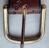 "All about horses leather 1 1/4 "" belt"