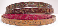 Vine Floral  1 1/4' leather belt