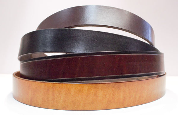 "Plain 1', 1 1/4"" and 1 1/2"" leather belts   Brown, Tan and Black"