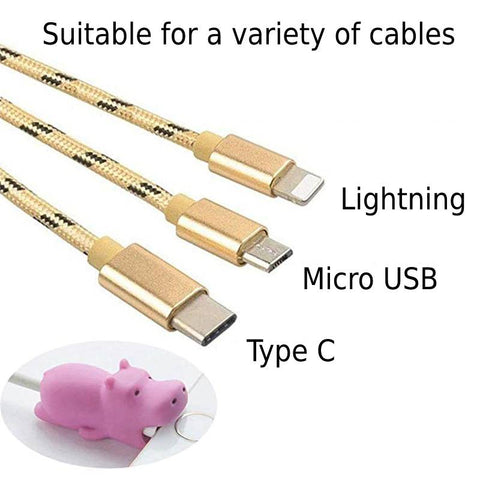 Cable protector types lightning micro usb type c