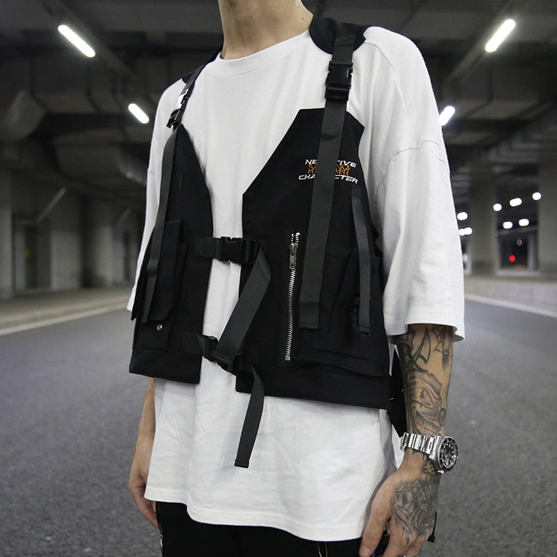 Black Tactical Vest For Men