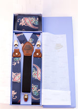 Load image into Gallery viewer, Blue Gangster BLU Suspenders & Tie Set