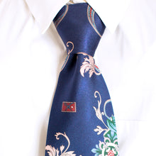 Load image into Gallery viewer, Blue Gangster BLU Silk Tie