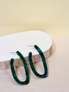 Cléo the Label Naomi Earring in Malachite Color