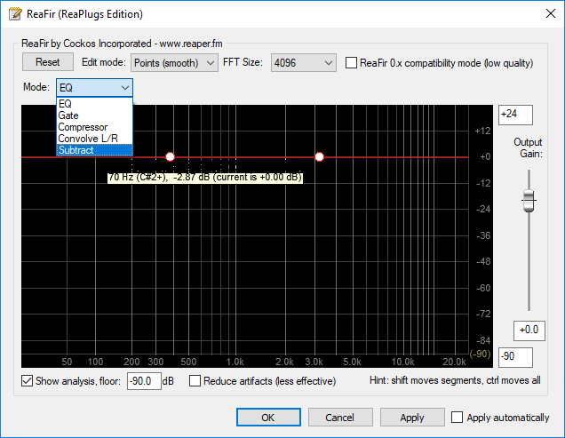 Removing Background Noise with Equalizer APO and Reaper's ReaFir
