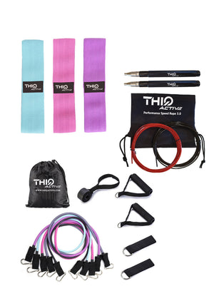 3 set fabric booty bands, best skipping rope and resistance bands