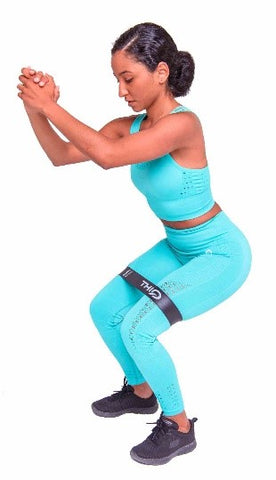 Standing Squat with ThiqActive Booty Bands