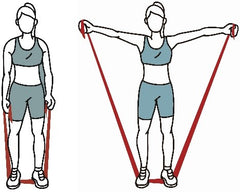 Resistance band lateral shoulder raises