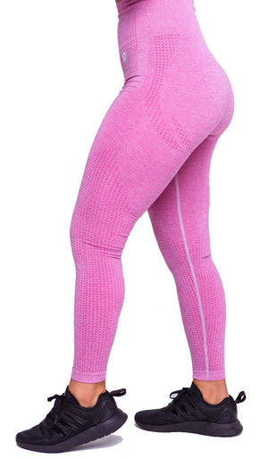 Side Americano Seamless Booty Leggings in Pink | ThiqActive