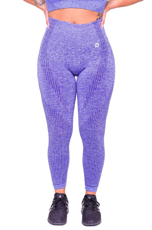 Front Americano Seamless Booty Leggings in Purple | ThiqActive