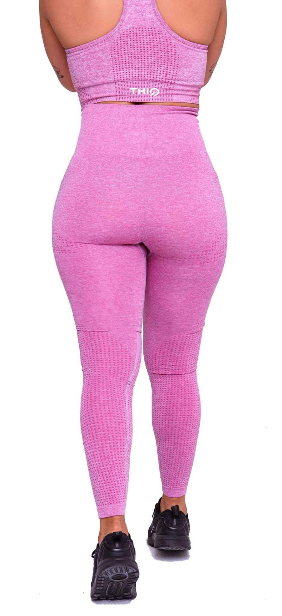 Activewear - Americano Seamless Leggings - Pink - THIQ