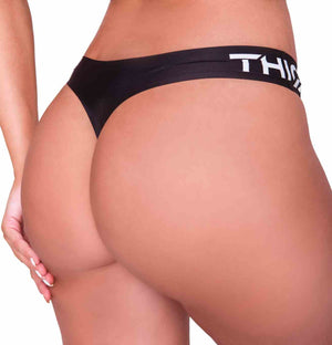Perfect fit wearing Premium Seamless Booty G-String in Black | ThiqActive