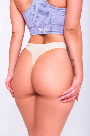Love my booty in Premium Seamless Booty G-String in Vanilla | ThiqActive