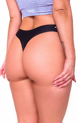 Activewear - Seamless G-String - Black - THIQ