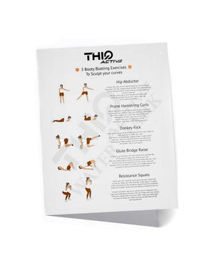 The ThiqActive 11Piece Workout Booty Resistance Set also comes with a A4 workout guide to start