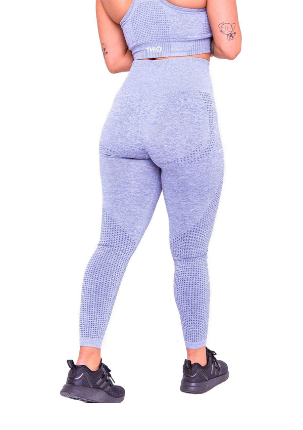 Rear Americano Seamless Booty Leggings In Grey | ThiqActive