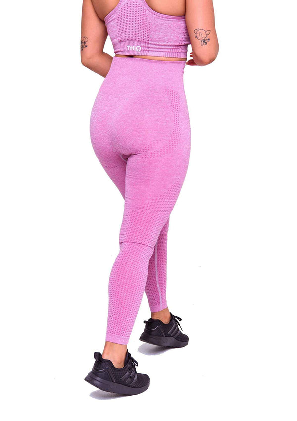 Rear Americano Seamless Booty Leggings in Pink | ThiqActive