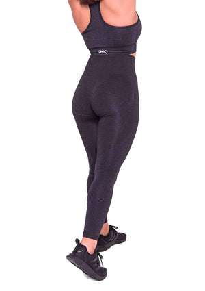 Activewear - Americano Seamless Leggings - Black - THIQ