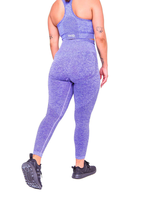 Rear Americano Seamless Booty Leggings in Purple | ThiqActive