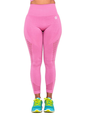 Activewear - Performance Seamless Leggings - Pink - THIQ