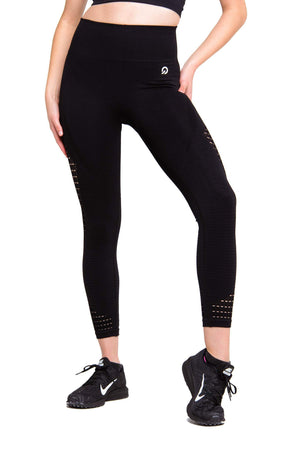 Activewear - Performance Seamless Leggings - Black - THIQ