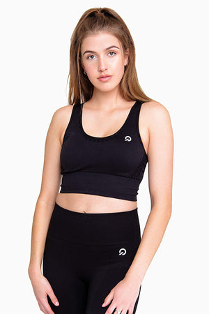 Activewear - Performance Activewear Sports Bra - Black - THIQ