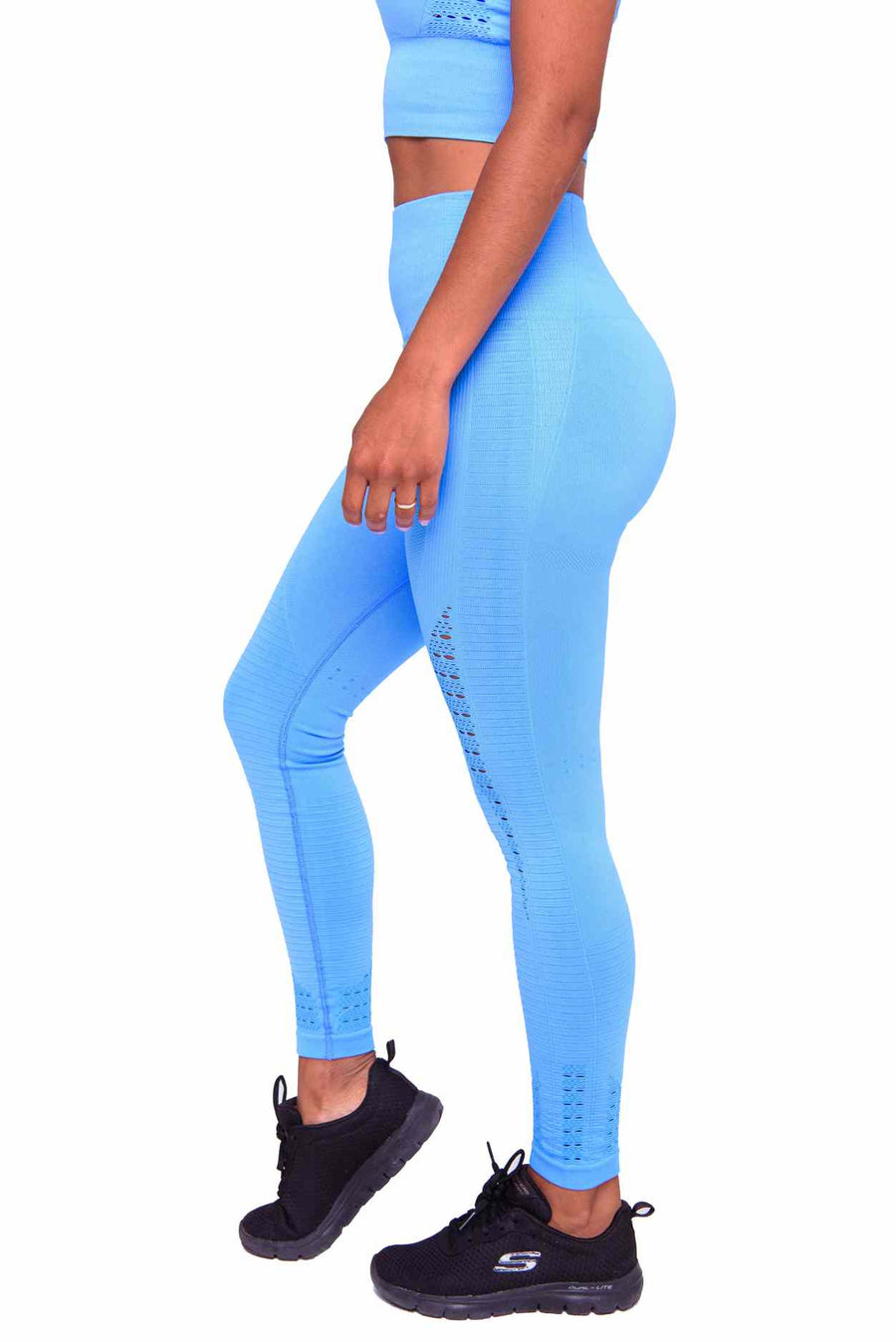 Activewear - Performance Seamless Leggings - Ocean Blue - THIQ
