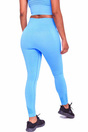 Booty Pop in my Performance Seamless Booty Leggings Ocean Blue | ThiqActive