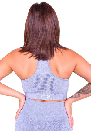 Activewear - Americano Sports Bra - Grey - THIQ