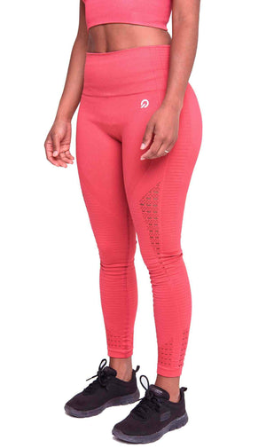 Activewear - Performance Seamless Leggings - Rose Red - THIQ