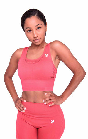 Activewear - Performance Activewear Sports Bra - Rose Red - THIQ