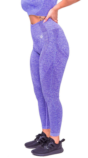 Side Americano Seamless Booty Leggings in Purple | ThiqActive