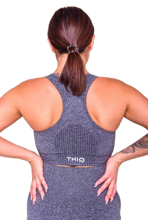 Activewear - Americano Sports Bra - Dark Grey - THIQ