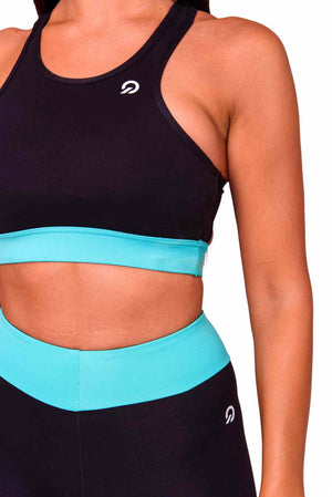 Cali Activewear Sports Bra in Cyan | ThiqActive