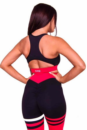Booty plus Cali Activewear Sports Bra in Red | ThiqActive