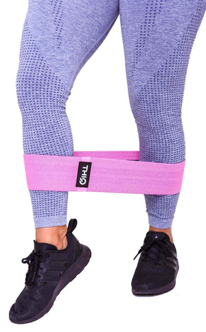 Close of the Premium Pink Booty Band-  Medium resistance band - 76cm diameter | ThiqActive