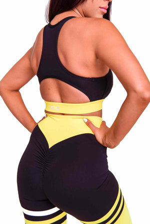 Booty plus Cali Activewear Sports Bra in Yellow | ThiqActive