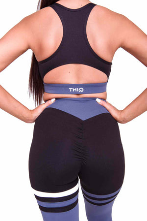 Activewear - Cali Scrunch Leggings - Midnight Blue - THIQ