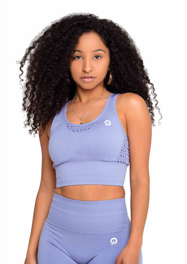 Feel like a Model wear Performance Activewear Sports Bra Grey | ThiqActive