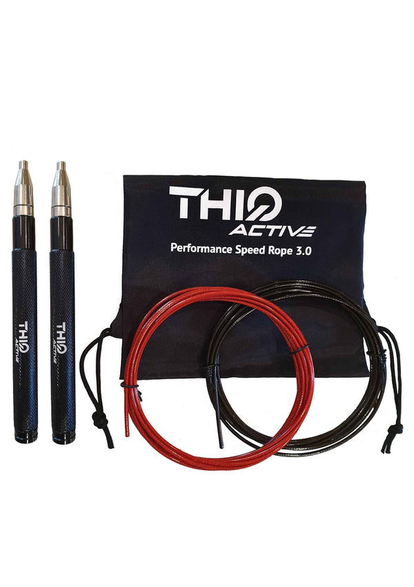 Performance Speed Jump Rope 3.0 - Black  | ThiqActive