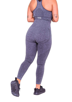 Activewear - Americano Seamless Leggings - Dark Grey - THIQ