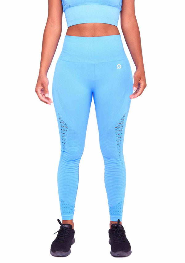 Perfect Fit Performance Seamless Booty Leggings Ocean Blue | ThiqActive