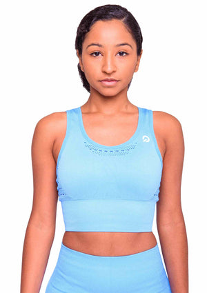 Activewear - Performance Activewear Sports Bra - Ocean Blue - THIQ