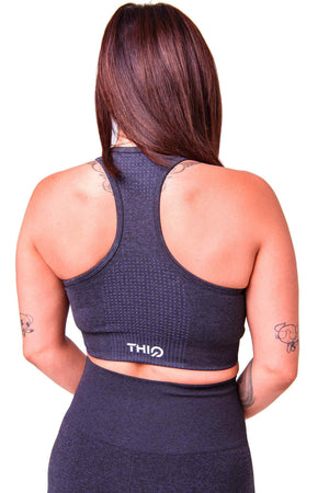 Rear Americano Activewear Sports Bra Black | ThiqActive