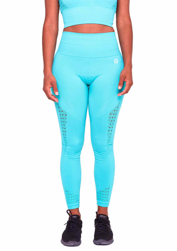 Perfect fit Performance Seamless Booty Leggings in Cyan | ThiqActive