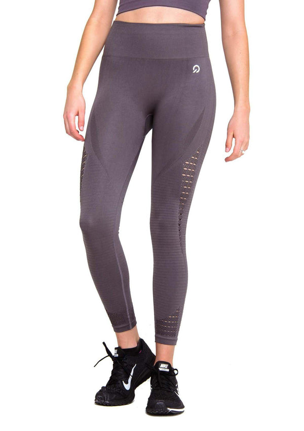 Activewear - Performance Seamless Leggings - Brown - THIQ