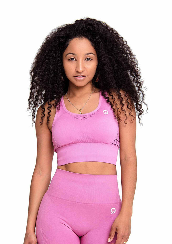 Activewear - Performance Activewear Sports Bra - Pink - THIQ