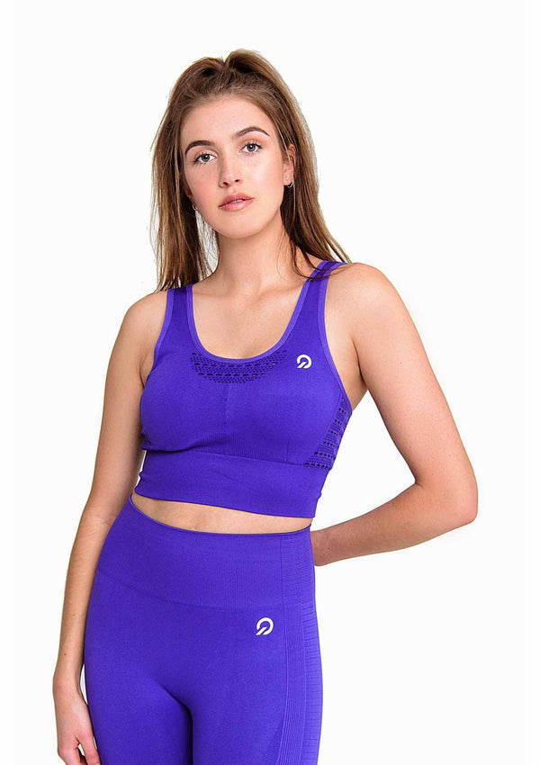 Activewear - Performance Activewear Sports Bra - Purple - THIQ