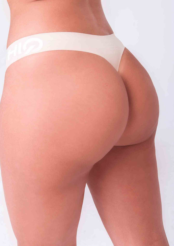 Feel amazing wearing Premium Seamless Booty G-String in Vanilla | ThiqActive