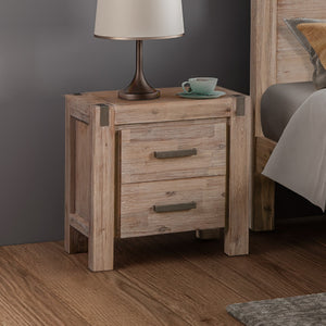 Java Bedside Table Oak
